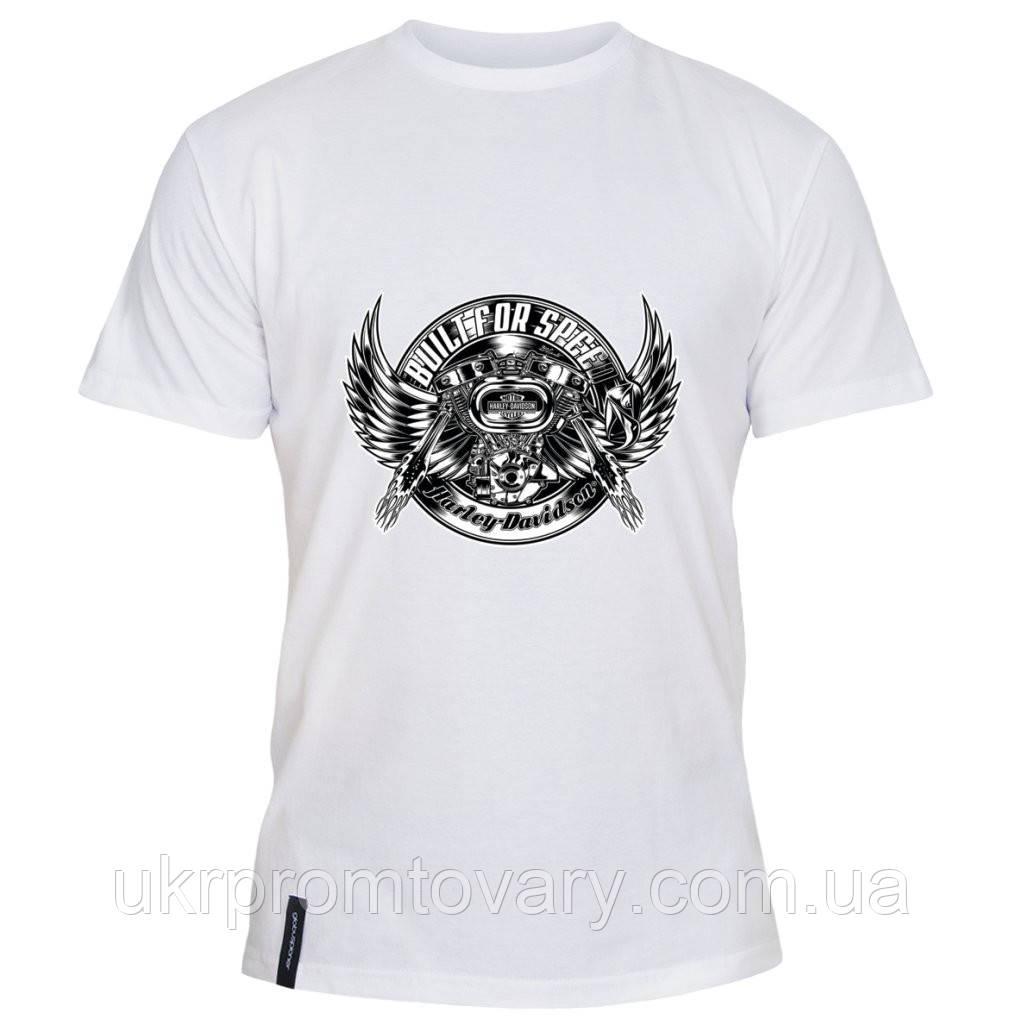 Мужская футболка - Built for speed, отличный подарок купить со скидкой, недорого