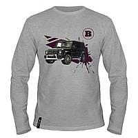 Лонгслив мужской - Brabus Mercedes Gelandewagen, отличный подарок купить со скидкой, недорого