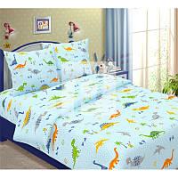 Комплект постельного белья Динозаврики на голубом, подростковый