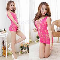 Эротическое мини-платье розовое