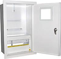 Щит ШМР-3ф.эл.-24А-В распределительный металлический для 3ф. электронного счетчика и 24 автоматов врезной