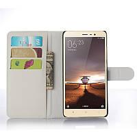 Чехол для Xiaomi Redmi Note 3 книжка кожа PU белый
