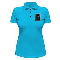 Женская футболка Поло - Шерлок Холмс, отличный подарок купить со скидкой, недорого