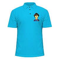 Мужская футболка Поло - Месси карикатура, отличный подарок купить со скидкой, недорого
