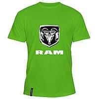 Мужская футболка - Dodge RAM, отличный подарок купить со скидкой, недорого