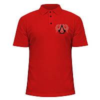 Мужская футболка Поло - Assassins, отличный подарок купить со скидкой, недорого