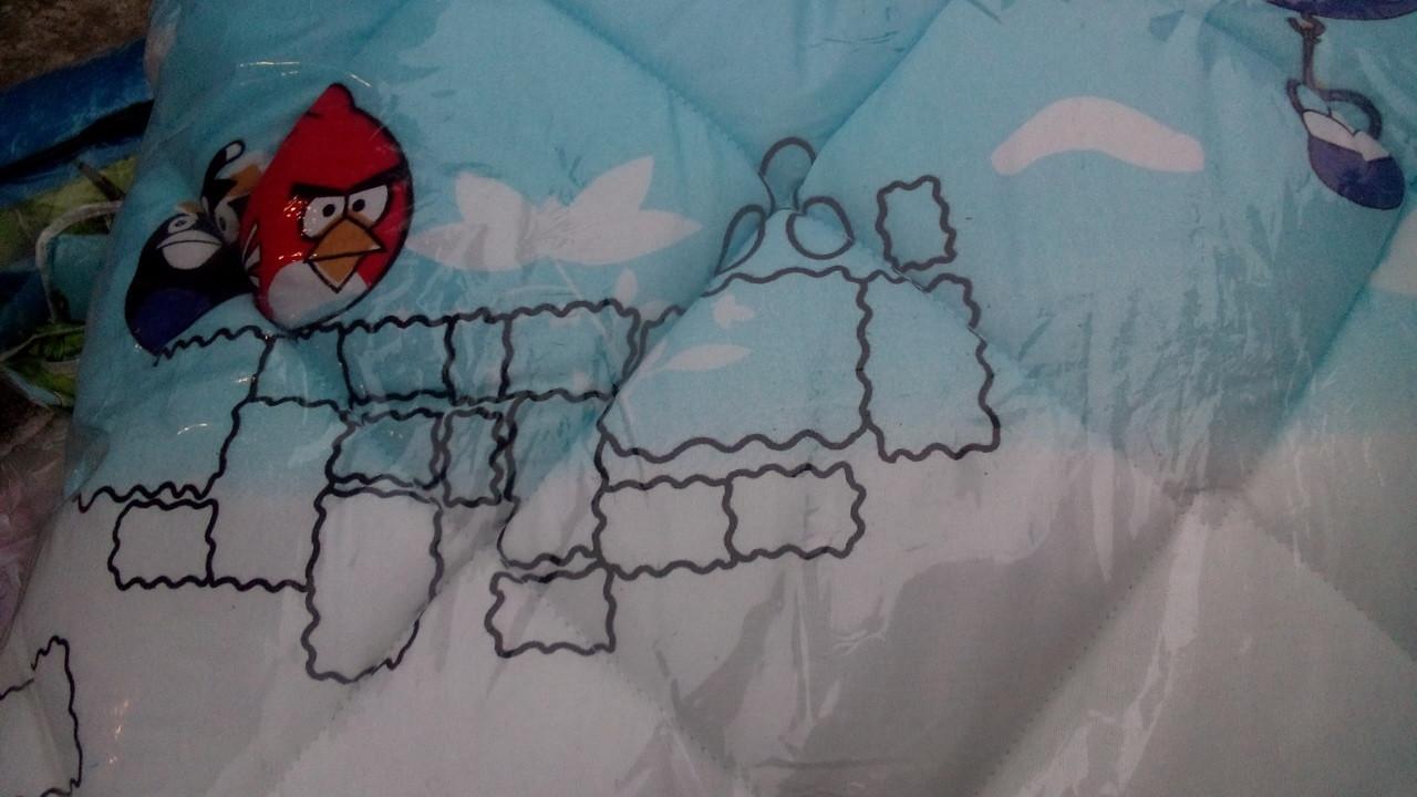 Детское одеяло и подушка Angry Birds (силикон)