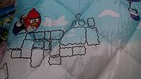 Детское одеяло и подушка Angry Birds (силикон), фото 1
