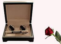 Запонки, зажим для галстуков набор artnab-003