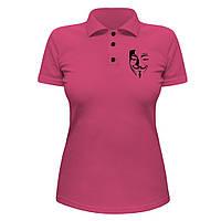 Женская футболка Поло - V значит вендетта, отличный подарок купить со скидкой, недорого