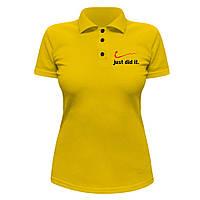 Женская футболка Поло - Просто сделал это, отличный подарок купить со скидкой, недорого