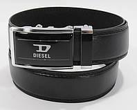 Ремень автомат мужской Diesel 2005-202 черный, искусственная кожа