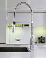 Кухонный смеситель с выдвижной лейкой на пружине Paffoni Effe 179 высокий
