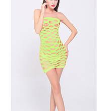 Сексуальное женское мини платье салатовый цвет