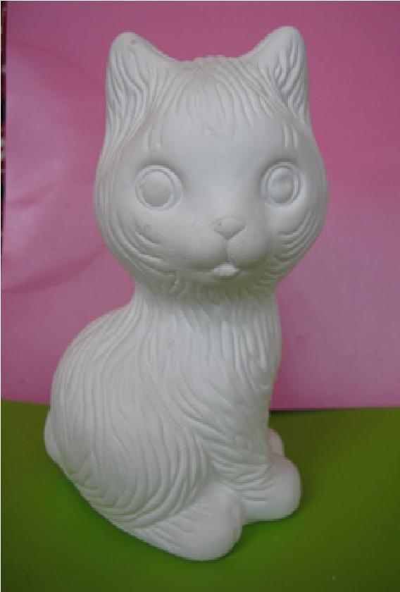 Гіпсова фігурка для розмальовки. Гипсовая фигурка для раскраски. Кіт великий