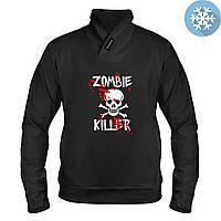 Толстовка утепленная - Zombie Killer, отличный подарок купить со скидкой, недорого