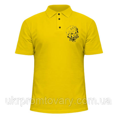 Мужская футболка Поло - Гагарин, отличный подарок купить со скидкой, недорого, фото 2