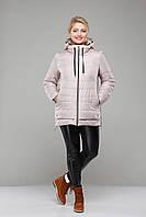 """Куртка """"Ванесса""""женская демисезонная большие размеры,М-335 св.беж"""