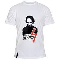 Мужская футболка - Manson, отличный подарок купить со скидкой, недорого