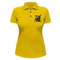 Женская футболка Поло - Def joint logo, отличный подарок купить со скидкой, недорого