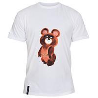 Мужская футболка - Олимпийский мишка, отличный подарок купить со скидкой, недорого