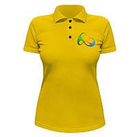 Женская футболка Поло - Олимпиада 2016, отличный подарок купить со скидкой, недорого