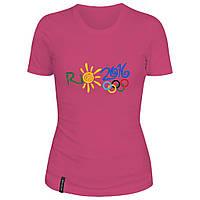 Женская футболка - Рио 2016, отличный подарок купить со скидкой, недорого