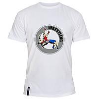 Мужская футболка - Wrestling, отличный подарок купить со скидкой, недорого