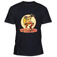 Мужская футболка - Elite Wrestling, отличный подарок купить со скидкой, недорого