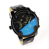 мужские стильные черные  часы  Dz Brave (Дизель Брейв)