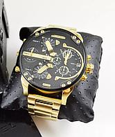 Dz Brave (Дизель Брейв), копия Gold мужские золотые часы  на металическом ремешке