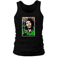 Майка мужская (хлопок) - Bob Marley Smoking, отличный подарок купить со скидкой, недорого