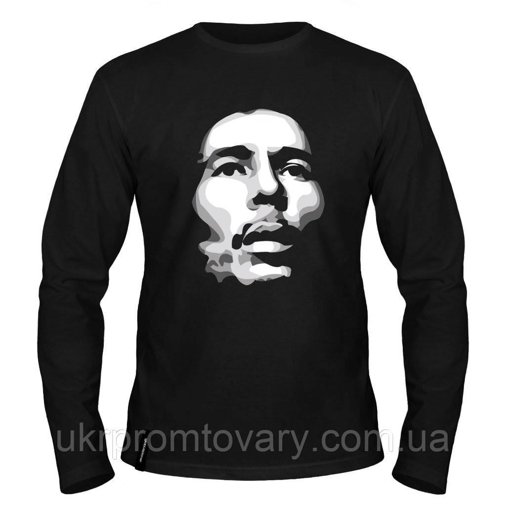 Лонгслив мужской - Bob Marley Silhouette, отличный подарок купить со скидкой, недорого