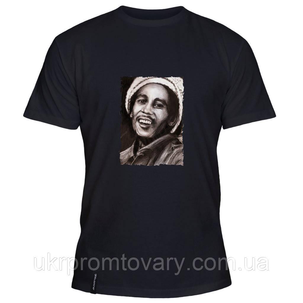 Мужская футболка - Bob Marley Portrait, отличный подарок купить со скидкой, недорого
