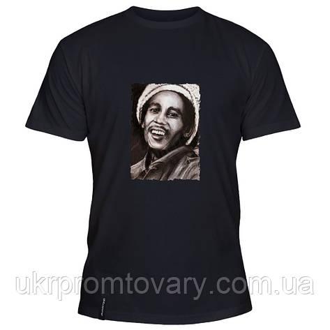Мужская футболка - Bob Marley Portrait, отличный подарок купить со скидкой, недорого, фото 2