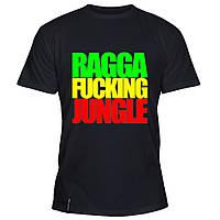 Мужская футболка - Ragga Fucking Jungle, отличный подарок купить со скидкой, недорого
