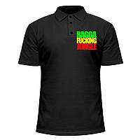 Мужская футболка Поло - Ragga Fucking Jungle, отличный подарок купить со скидкой, недорого