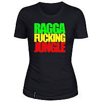 Женская футболка - Ragga Fucking Jungle, отличный подарок купить со скидкой, недорого