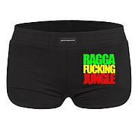 Шорты женские - Ragga Fucking Jungle, отличный подарок купить со скидкой, недорого