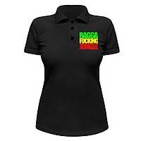 Женская футболка Поло - Ragga Fucking Jungle, отличный подарок купить со скидкой, недорого