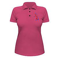 Женская футболка Поло - Флаг Великобритании, отличный подарок купить со скидкой, недорого