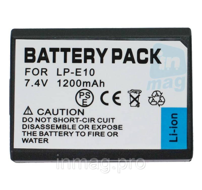 Аккумулятор для фотоаппарата Canon LP-E10, 1200 mAh.