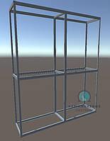 Конструктор для сборки двухсекционной витрины. Модель-23
