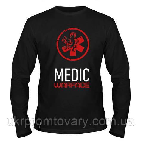 Лонгслив мужской - Medic, отличный подарок купить со скидкой, недорого, фото 2