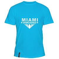 Мужская футболка - Маями - кокаиновый бизнес, отличный подарок купить со скидкой, недорого