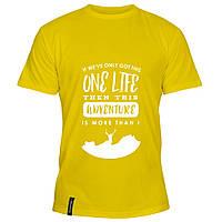Мужская футболка - Adventure Of A Lifetime, отличный подарок купить со скидкой, недорого