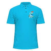 Мужская футболка Поло - Радужная лошадь, отличный подарок купить со скидкой, недорого