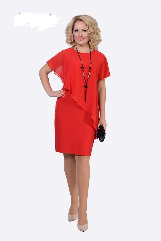 Стильное женское платье Дели большой размер