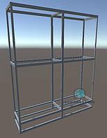 Конструктор для сборки двухсекционной витрины. Модель-24