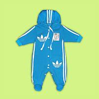 Комбинезон адидас Человечек для малыша адидас костюм адидас мальчик голубой